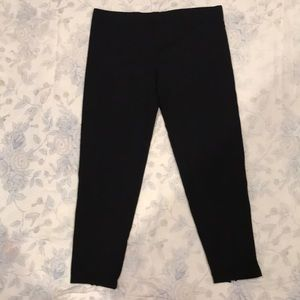 Black with Zipper Leggings by Gap